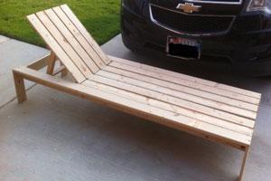 Homemade Chaise Lounge Chair