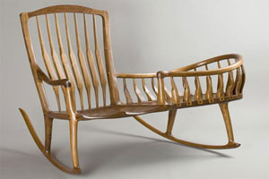 Rocking Chair With Cradle