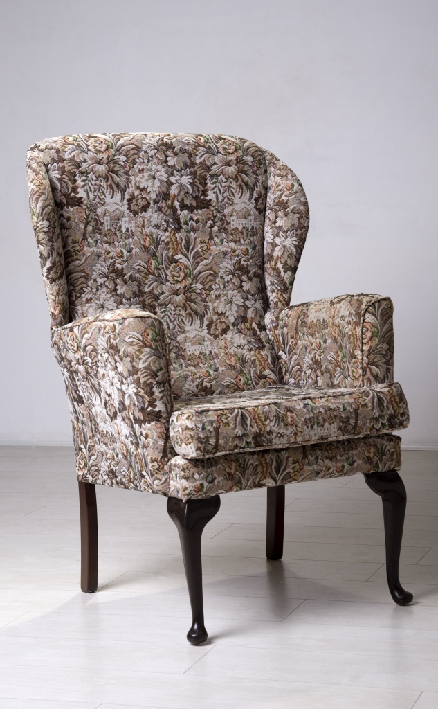 English style wingback chair